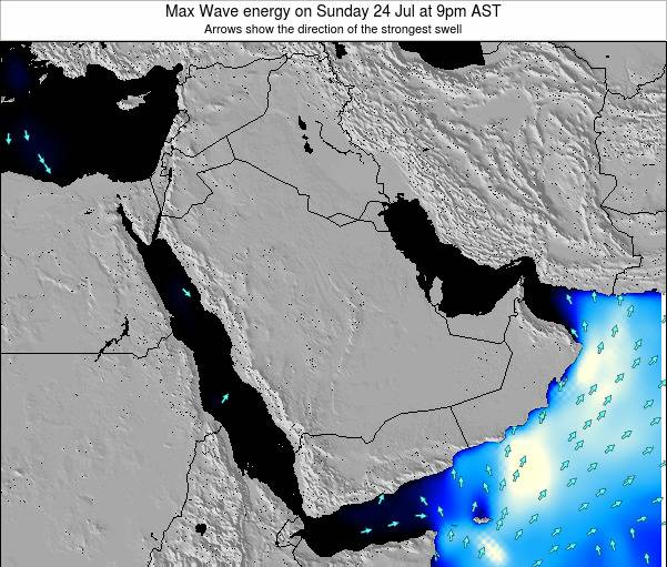 Kuwait Max Wave energy on Sunday 20 Apr at 9pm AST