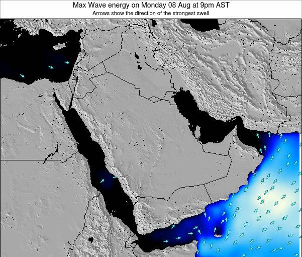 Kuwait Max Wave energy on Thursday 31 Jul at 9pm AST