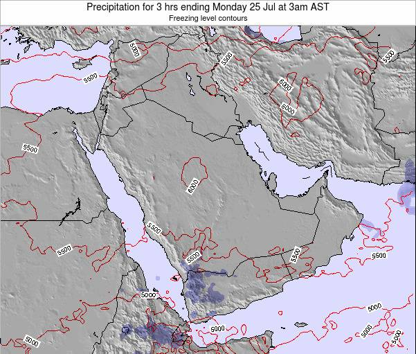 Oman Precipitation for 3 hrs ending Monday 20 May at 3pm AST map
