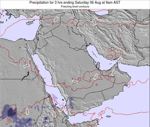 Qatar Precipitation for 3 hrs ending Friday 31 May at 9am AST map
