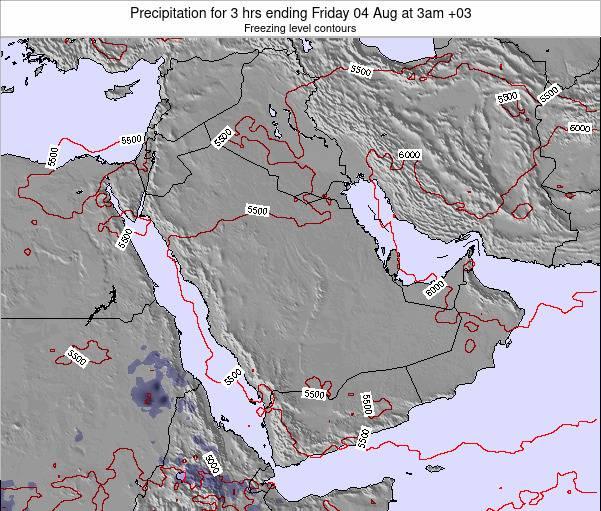 SaudiArabia Precipitation for 3 hrs ending Saturday 21 Jul at 9am AST map