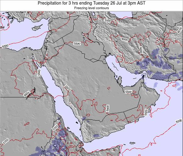 Qatar Precipitation for 3 hrs ending Friday 24 May at 3am AST map