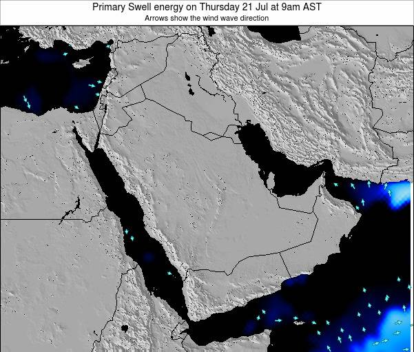 Oman Primary Swell energy on Wednesday 21 Nov at 9am AST map