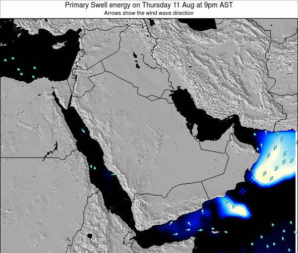 Oman Primary Swell energy on Wednesday 23 Jan at 9pm AST map