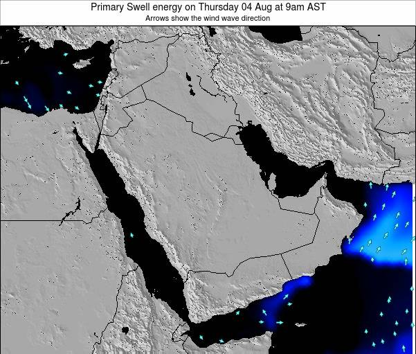 Oman Primary Swell energy on Saturday 17 Nov at 9am AST map