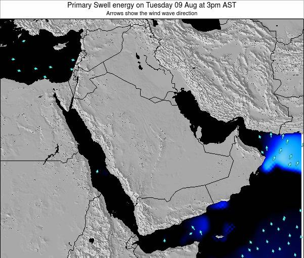 Oman Primary Swell energy on Monday 24 Jun at 3am AST map