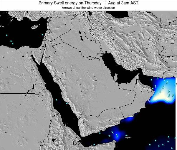 Oman Primary Swell energy on Tuesday 26 Mar at 9pm AST map