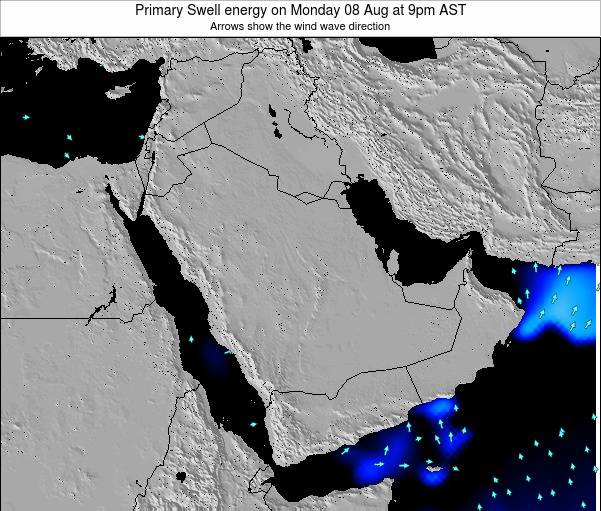 Oman Primary Swell energy on Tuesday 28 May at 9pm AST map