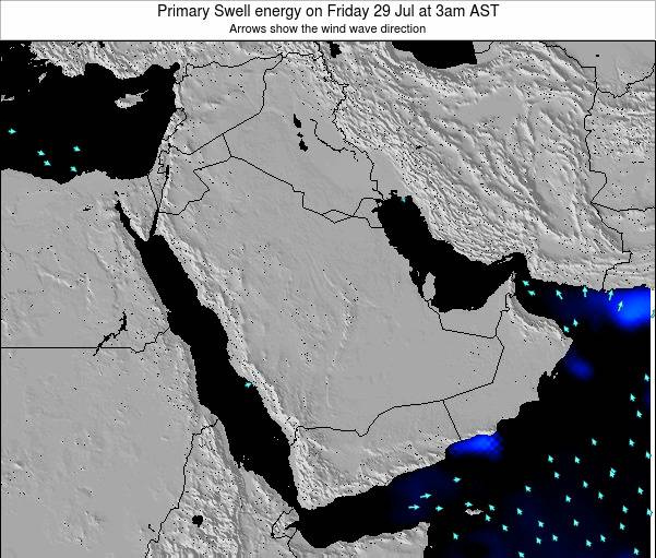 Oman Primary Swell energy on Sunday 23 Jun at 9pm AST map