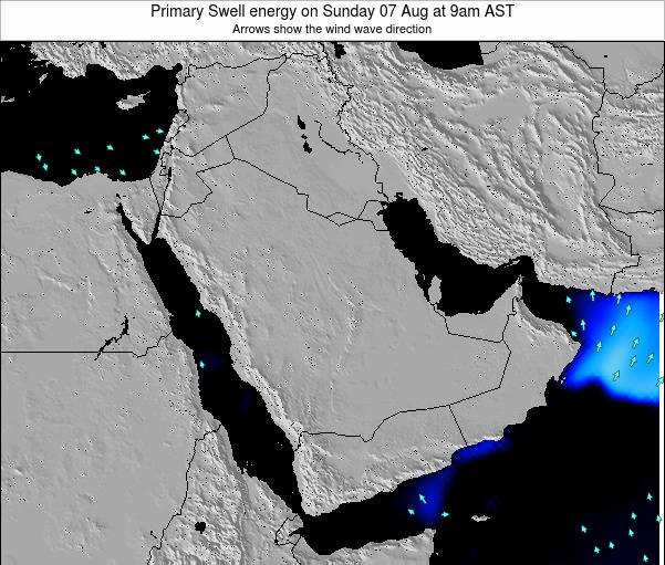 Kuwait Primary Swell energy on Tuesday 29 Apr at 9am AST