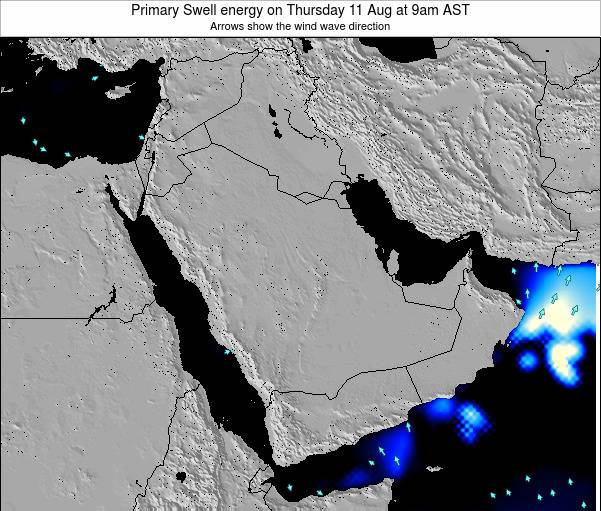 Kuwait Primary Swell energy on Monday 27 May at 9am AST