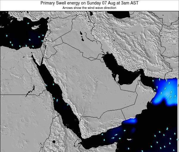 Kuwait Primary Swell energy on Saturday 15 Mar at 9am AST