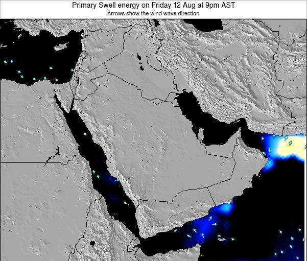 Oman Primary Swell energy on Friday 29 Mar at 3pm AST map