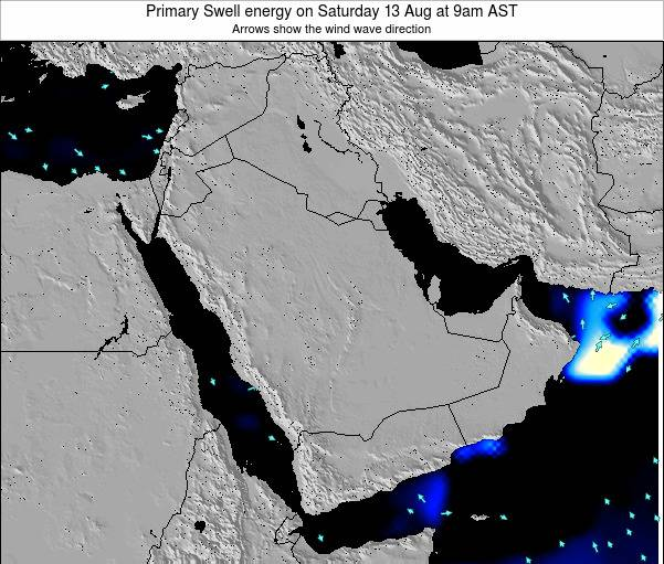 Oman Primary Swell energy on Tuesday 18 Dec at 9pm AST map