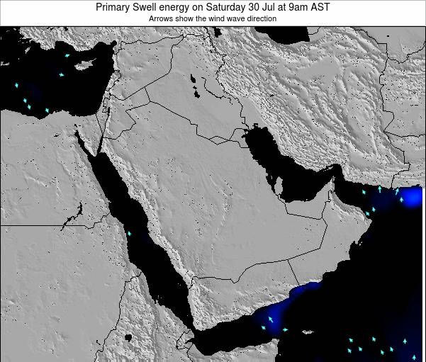 Oman Primary Swell energy on Monday 27 May at 3pm AST map