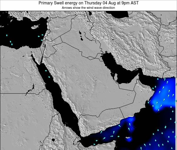 Oman Primary Swell energy on Monday 27 May at 9am AST map