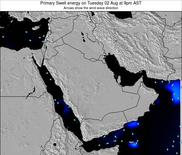 Oman Primary Swell energy on Tuesday 24 Apr at 3pm AST map