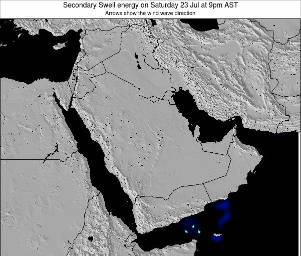 Oman Secondary Swell energy on Thursday 30 May at 3pm AST map