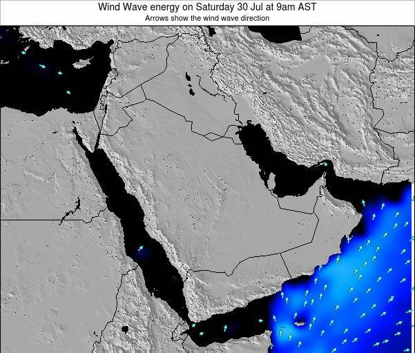 Oman Wind Wave energy on Sunday 05 Jun at 3am AST