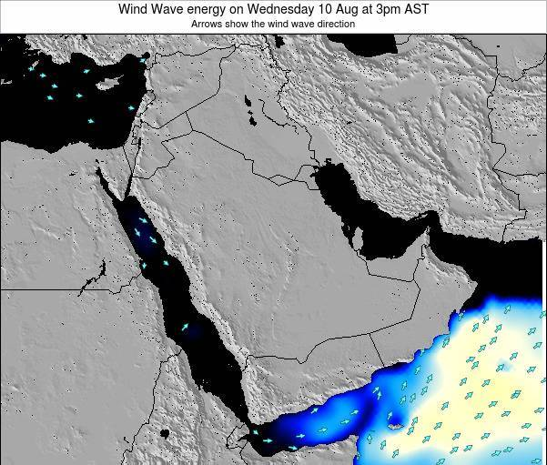 Oman Wind Wave energy on Thursday 22 Mar at 9pm AST map