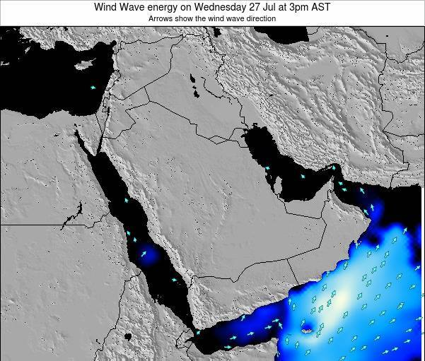 Oman Wind Wave energy on Sunday 16 Mar at 3pm AST