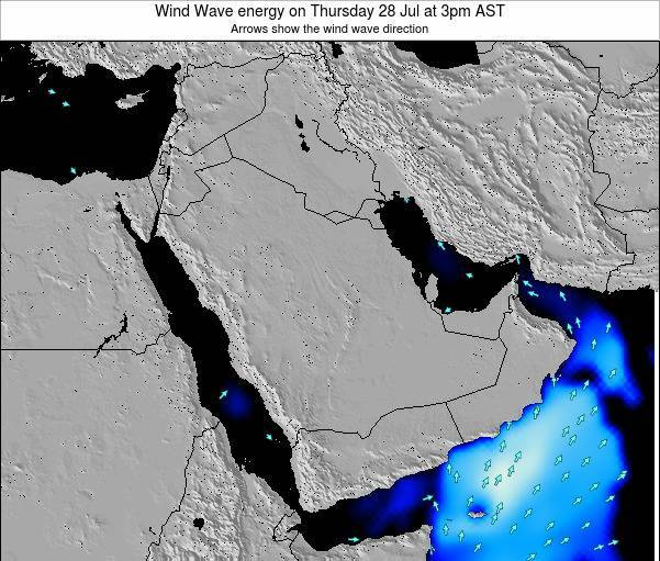 Oman Wind Wave energy on Thursday 26 Apr at 3am AST map