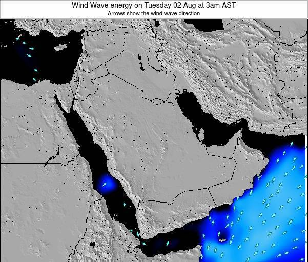 Oman Wind Wave energy on Saturday 20 Oct at 3pm AST map