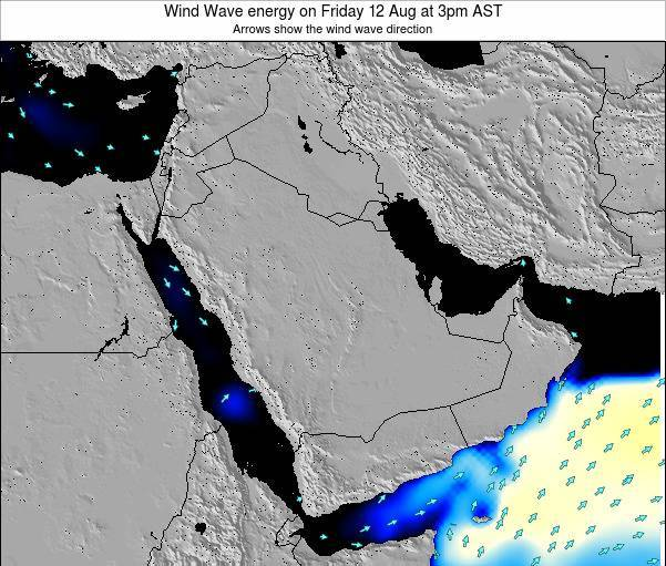 Oman Wind Wave energy on Sunday 03 Aug at 3pm AST