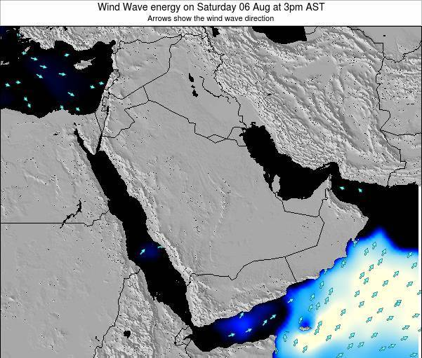 Oman Wind Wave energy on Wednesday 23 Jan at 3am AST map