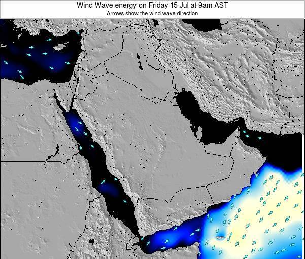 Oman Wind Wave energy on Tuesday 23 Jan at 9am AST map