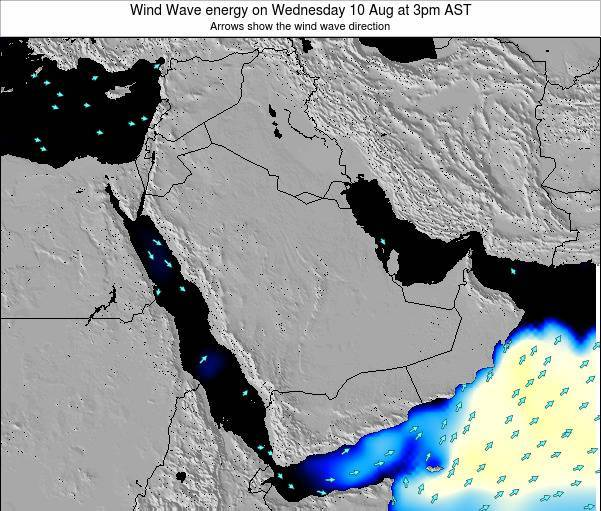 Oman Wind Wave energy on Monday 27 May at 3pm AST