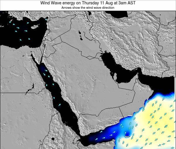 Oman Wind Wave energy on Saturday 02 Aug at 3pm AST