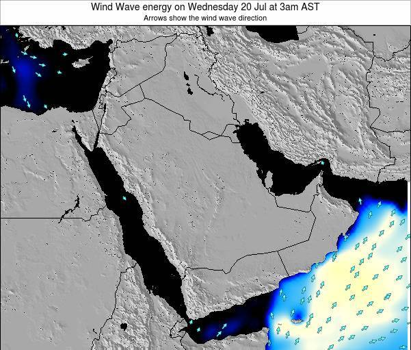 Oman Wind Wave energy on Monday 01 Aug at 9pm AST