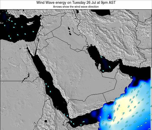 Oman Wind Wave energy on Monday 28 Jul at 3pm AST