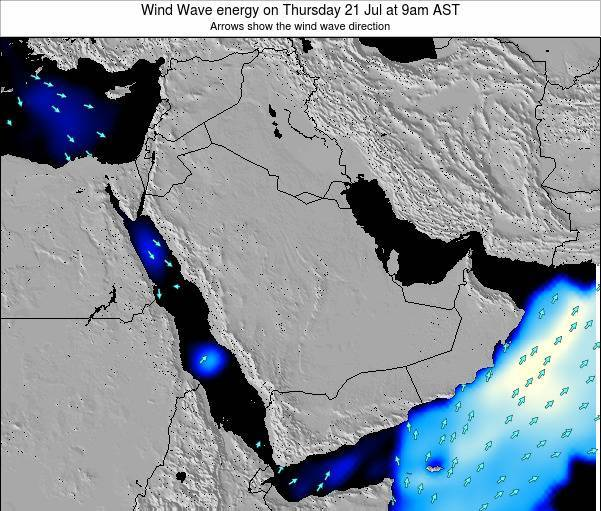 Oman Wind Wave energy on Monday 17 Mar at 3am AST