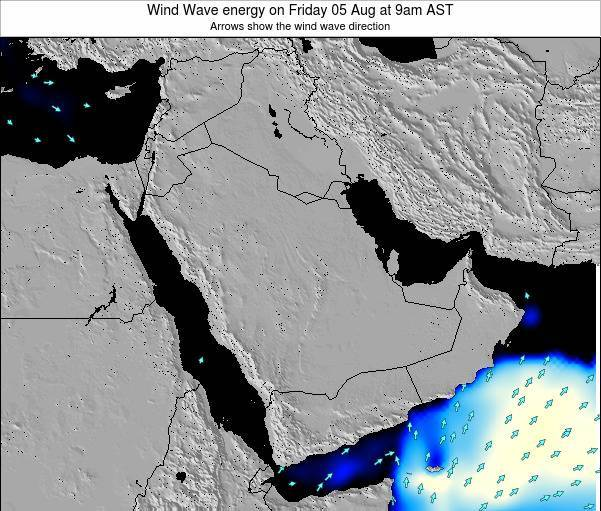 Oman Wind Wave energy on Friday 25 Apr at 3am AST