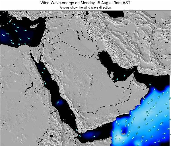 Oman Wind Wave energy on Wednesday 24 Oct at 3am AST map
