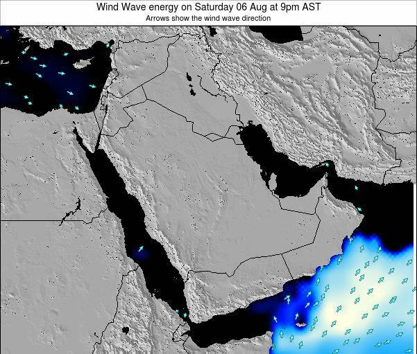Oman Wind Wave energy on Wednesday 24 Oct at 9pm AST map