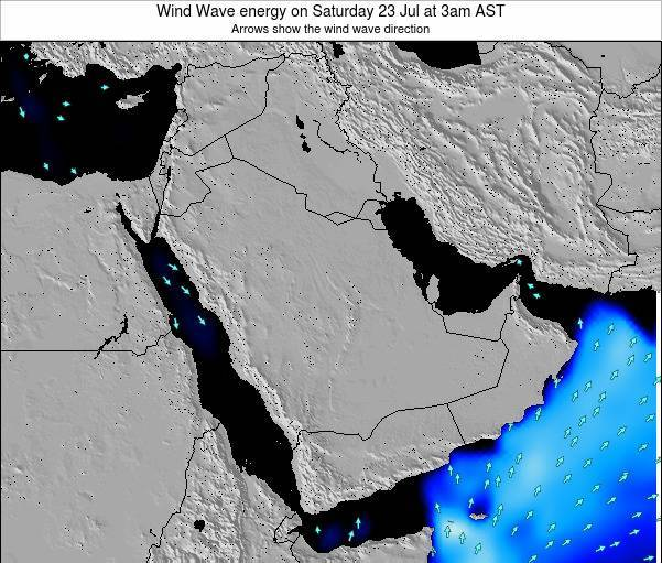 SaudiArabia Wind Wave energy on Tuesday 19 Jun at 9am AST map
