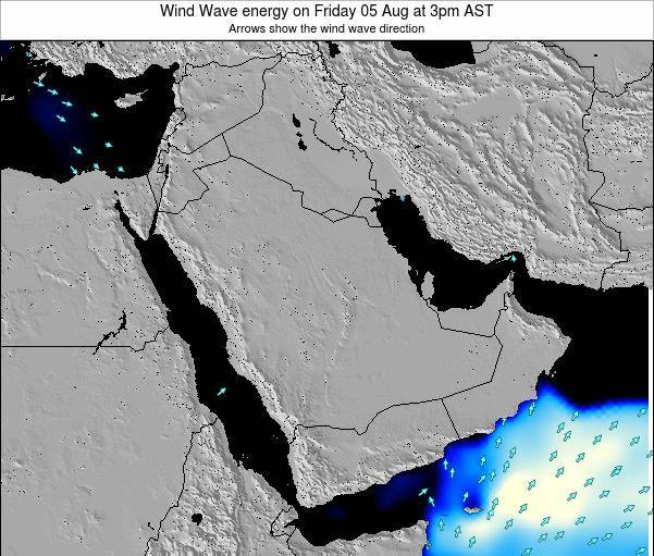 Oman Wind Wave energy on Wednesday 18 Jul at 9am AST map