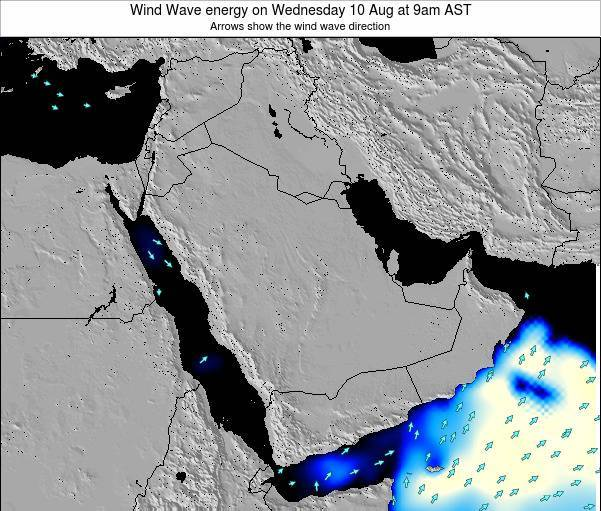 Oman Wind Wave energy on Monday 19 Nov at 3pm AST map