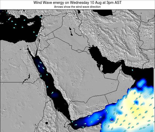 Oman Wind Wave energy on Tuesday 23 Jan at 3pm AST map