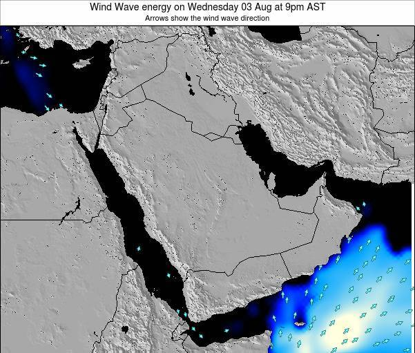 Oman Wind Wave energy on Monday 27 May at 9am AST