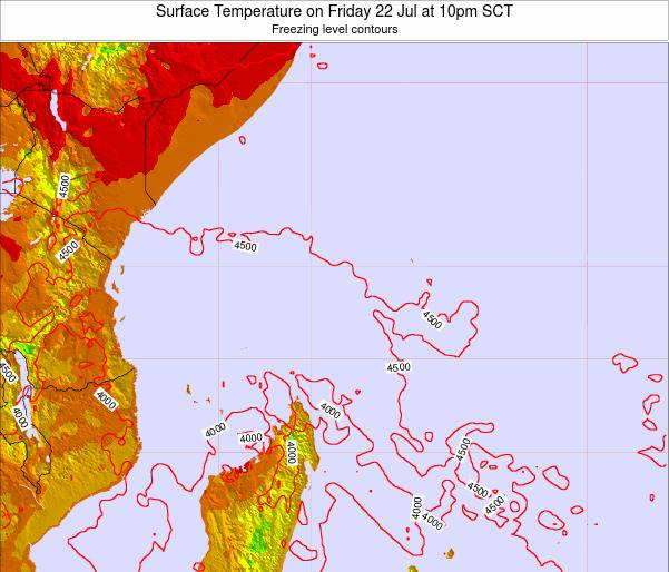 Seychelles Surface Temperature on Tuesday 05 Aug at 4am SCT