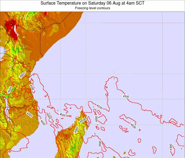 Seychelles Surface Temperature on Saturday 04 Jun at 10pm SCT