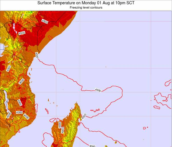 Seychelles Surface Temperature on Tuesday 29 Jul at 10am SCT