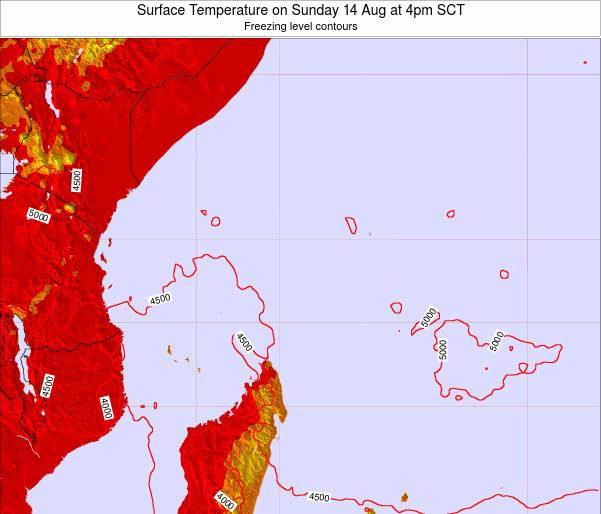 Seychelles Surface Temperature on Saturday 15 Mar at 4am SCT