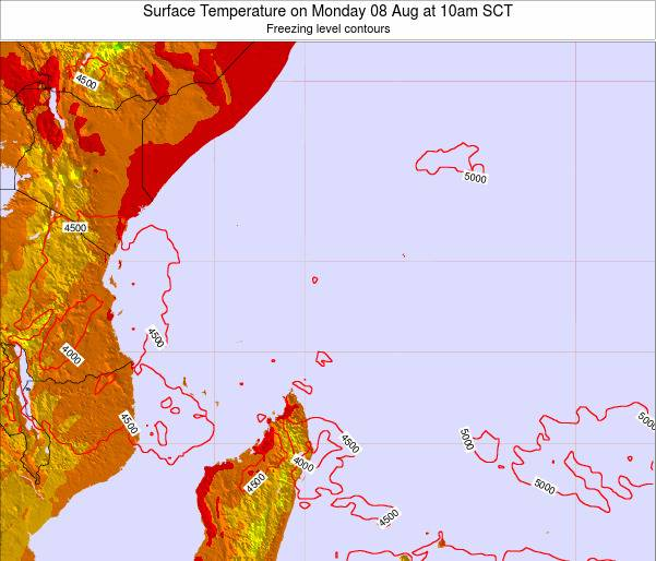 Seychelles Surface Temperature on Tuesday 29 Apr at 10am SCT