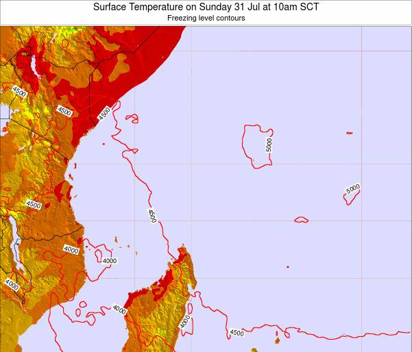 Seychelles Surface Temperature on Tuesday 02 Sep at 10pm SCT