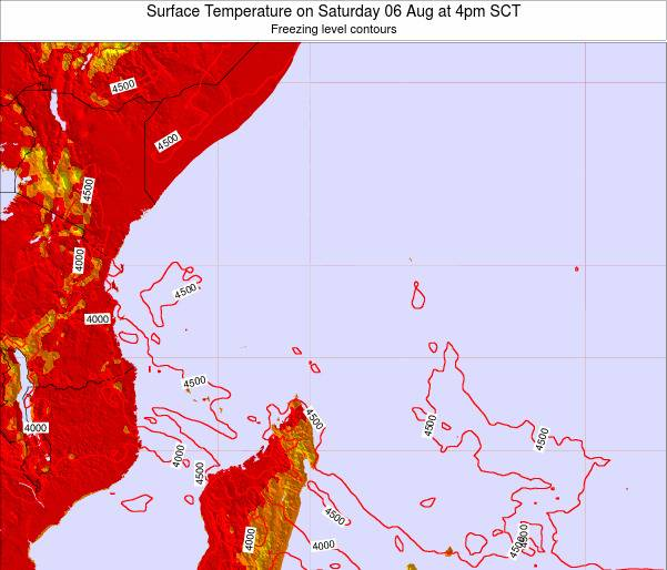Seychelles Surface Temperature on Friday 18 Apr at 4pm SCT